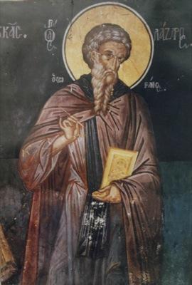 Святой преподобный Лазарь иконописец