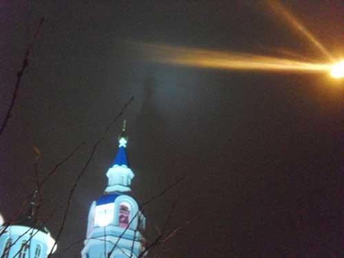 Необычное явление над храмом в Саранске