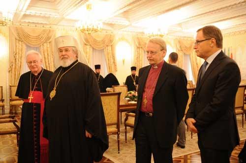 Глава Финской православной церкви архиеп. Лев (Макконен) с католиками