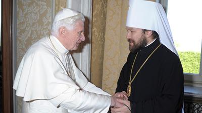Митрополит Иларион восхищается римским папой